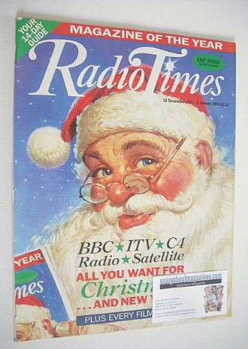 <!--1991-12-21-->Radio Times magazine - Santa Claus cover (21 December 1991