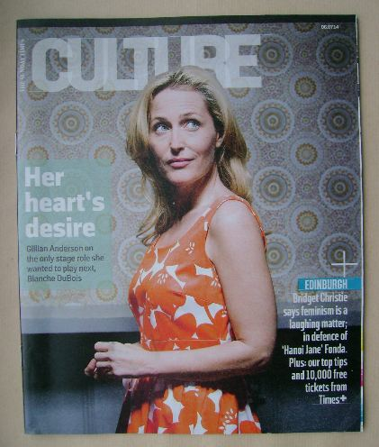 <!--2014-07-06-->Culture magazine - Gillian Anderson cover (6 July 2014)