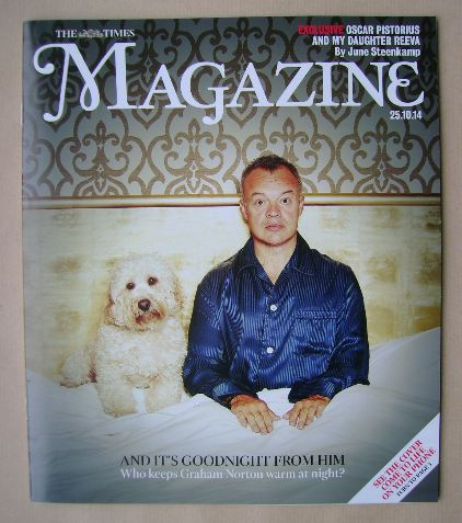 <!--2014-10-25-->The Times magazine - Graham Norton cover (25 October 2014)
