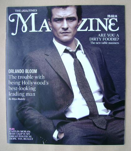 <!--2014-03-29-->The Times magazine - Orlando Bloom cover (29 March 2014)
