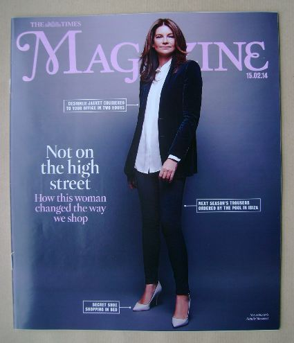 <!--2014-02-15-->The Times magazine - Natalie Massenet cover (15 February 2