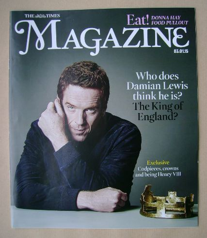 <!--2015-01-03-->The Times magazine - Damian Lewis cover (3 January 2015)