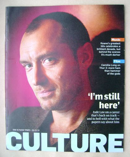 <!--2013-11-03-->Culture magazine - Jude Law cover (3 November 2013)