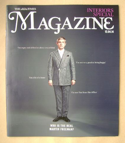 <!--2014-04-12-->The Times magazine - Martin Freeman cover (12 April 2014)