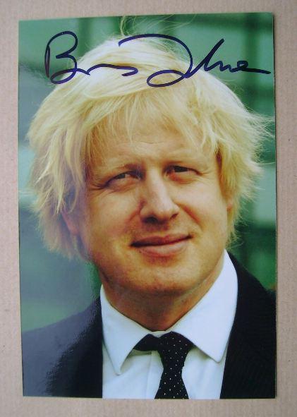 Boris Johnson autograph