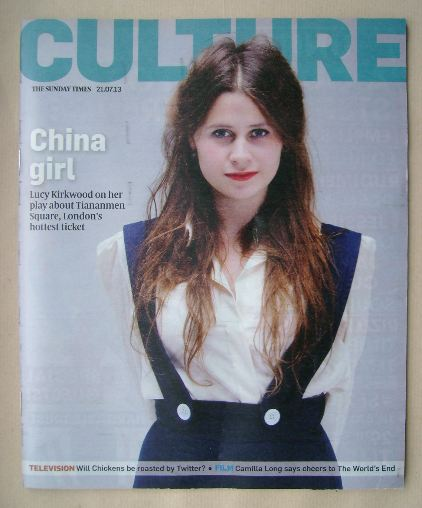 <!--2013-07-21-->Culture magazine - Lucy Kirkwood cover (21 July 2013)
