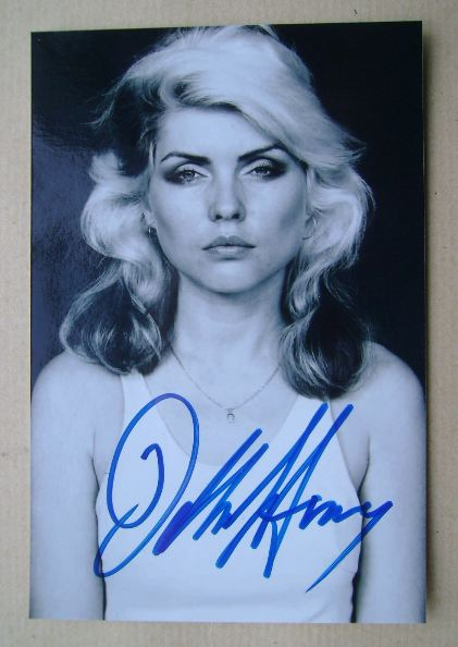 Debbie Harry autographed photo