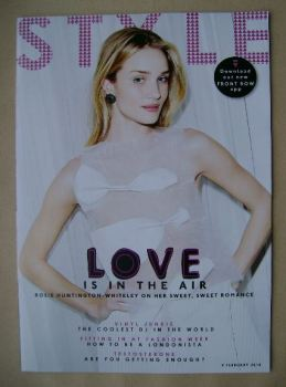 Style magazine - Rosie Huntington-Whiteley cover (9 February 2014)
