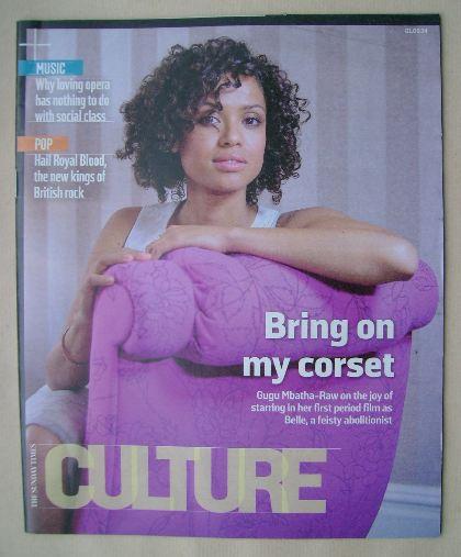 <!--2014-06-01-->Culture magazine - Gugu Mbatha-Raw cover (1 June 2014)