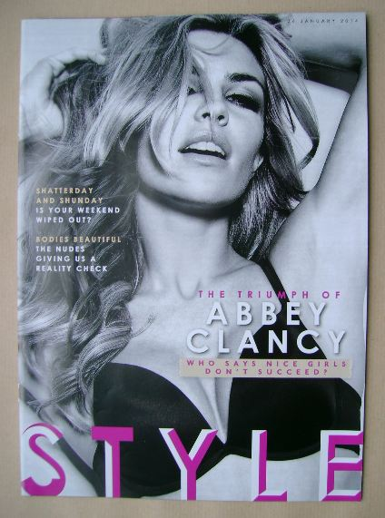 <!--2014-01-26-->Style magazine - Abbey Clancy cover (26 January 2014)