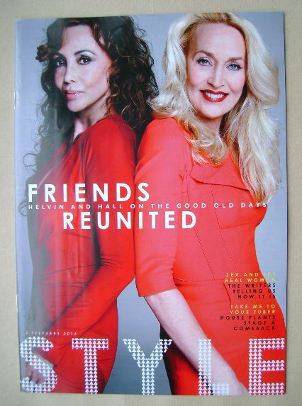 <!--2014-02-02-->Style magazine - Marie Helvin and Jerry Hall cover (2 Febr