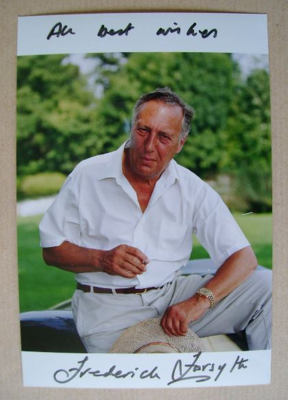 Frederick Forsyth autographed photo