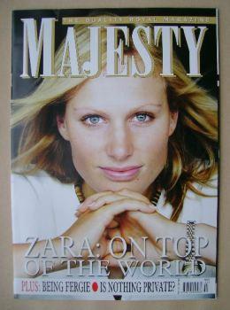 Majesty magazine - Zara Phillips cover (October 2006 - Volume 27 No 10)