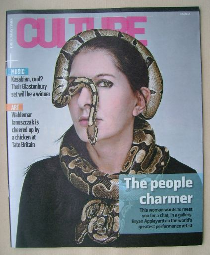 <!--2014-06-15-->Culture magazine - Marina Abramovic cover (15 June 2014)