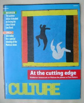 Culture magazine - At The Cutting Edge cover (20 April 2014)
