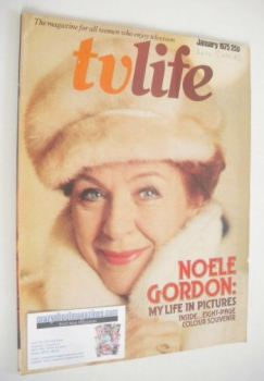 TV Life magazine - Noele Gordon cover (January 1975)