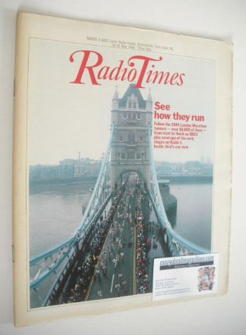 <!--1984-05-12-->Radio Times magazine - London Marathon cover (12-18 May 19