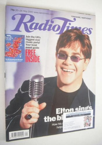 <!--2000-05-20-->Radio Times magazine - Elton John cover (20-26 May 2000)