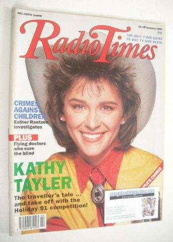 <!--1991-01-12-->Radio Times magazine - Kathy Tayler cover (12-18 January 1