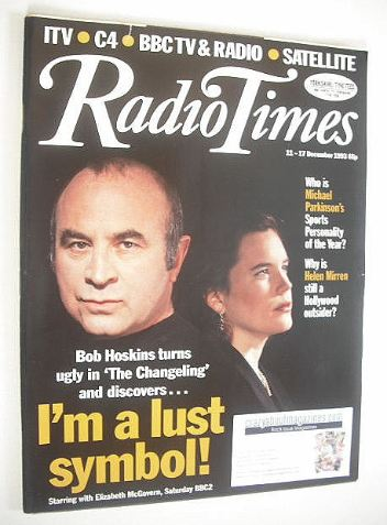 <!--1993-12-11-->Radio Times magazine - Bob Hoskins and Elizabeth McGovern