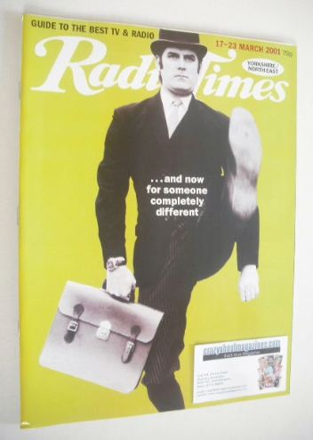 <!--2001-03-17-->Radio Times magazine - John Cleese cover (17 - 23 March 20