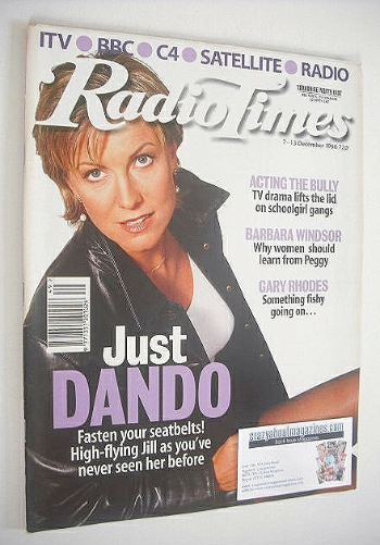 <!--1996-12-07-->Radio Times magazine - Jill Dando cover (7-13 December 199