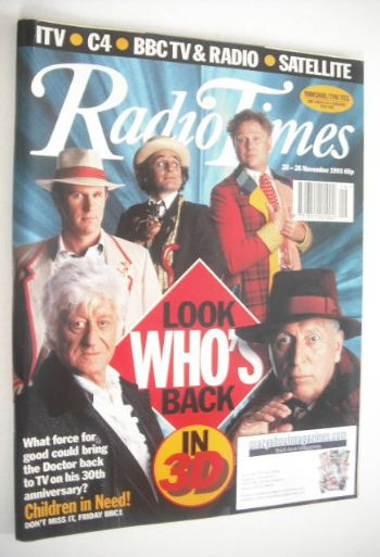 <!--1993-11-20-->Radio Times magazine - Doctor Who cover (20-26 November 19
