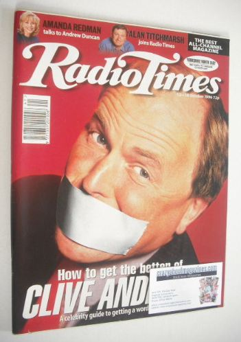 <!--1996-10-12-->Radio Times magazine - Clive Anderson cover (12-18 October