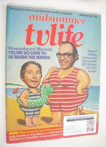 <!--1975-07-->TV Life magazine - Eric Morecambe and Ernie Wise cover (July/