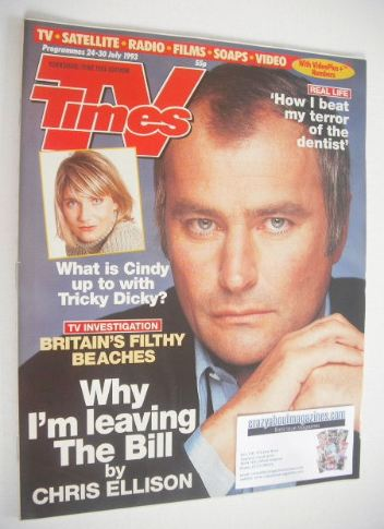 <!--1993-07-24-->TV Times magazine - Chris Ellison cover (24-30 July 1993)