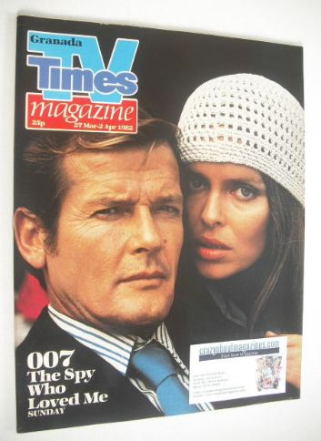<!--1982-03-27-->TV Times magazine - Roger Moore and Barbara Bach cover (27