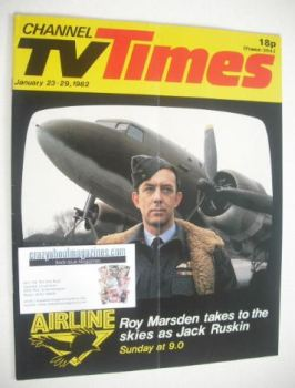 CTV Times magazine - 23-29 January 1982 - Roy Marsden cover
