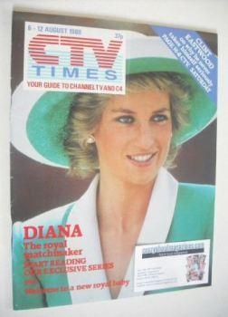 CTV Times magazine - 6-12 August 1988 - Princess Diana cover