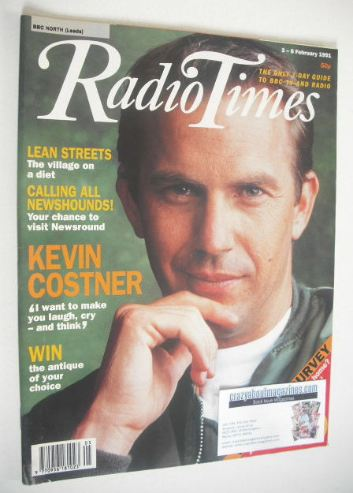 <!--1991-02-02-->Radio Times magazine - Kevin Costner cover (2-8 February 1