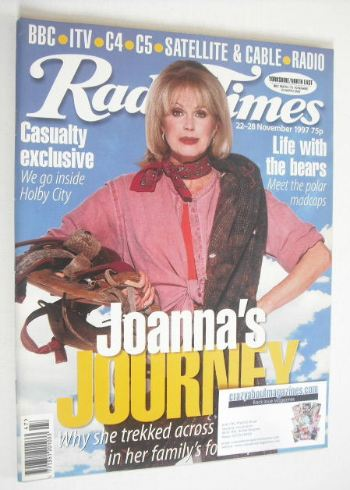 <!--1997-11-22-->Radio Times magazine - Joanna Lumley cover (22-28 November