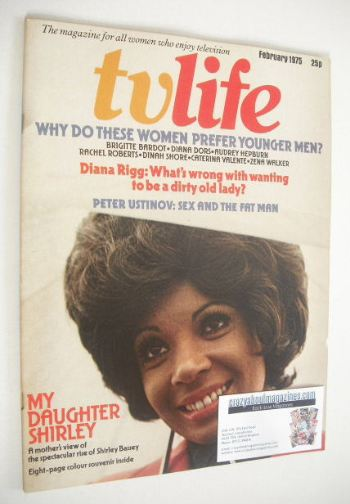 <!--1975-02-->TV Life magazine - Shirley Bassey cover (February 1975)