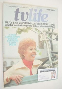 TV Life magazine - Noele Gordon cover (August 1974)