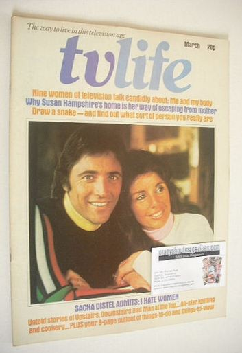 <!--1974-03-->TV Life magazine - Francine Breaud and Sacha Distel cover (Ma
