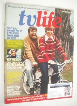 TV Life magazine - Richard Coleman and Wendy Craig cover (June 1975)