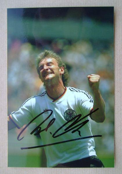 Rudi Voller autograph
