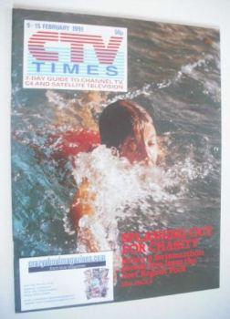 CTV Times magazine - 9-15 February 1991 - Jersey's Swimarathon cover