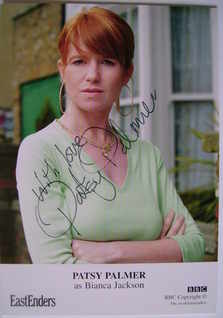 Patsy Palmer autograph (EastEnders actor)