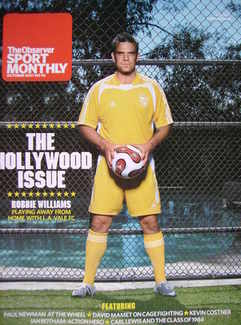 The Observer Sport Monthly magazine - Robbie Williams cover (October 2007)