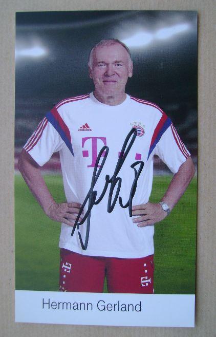 Hermann Gerland autograph
