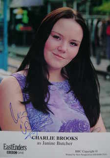 Charlie Brooks autograph (EastEnders actor)