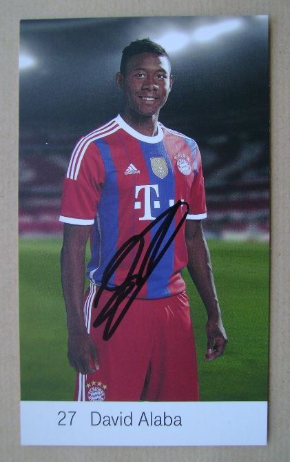 David Alaba autograph