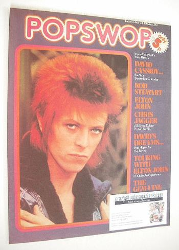<!--1973-11-24-->Popswop magazine - 24 November 1973 - David Bowie cover