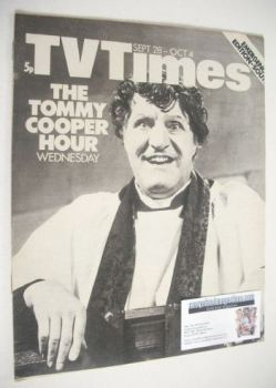 TV Times magazine - Tommy Cooper cover (28 September - 4 October 1974)