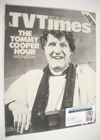 <!--1974-09-28-->TV Times magazine - Tommy Cooper cover (28 September - 4 O