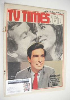 TV Times magazine - Michael Scott cover (10-16 December 1966)